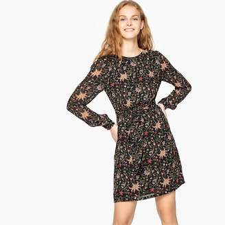 SEE U SOON Short Straight Floral Print Dress
