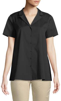 Lafayette 148 New York Paula Notch-Collar Blouse