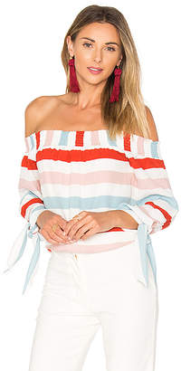 Lovers + Friends Lovers + Friends Dream Lover Top in Red $138 thestylecure.com