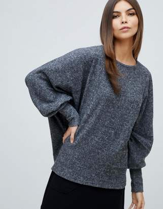 Y.A.S ribbed batwing knitted top