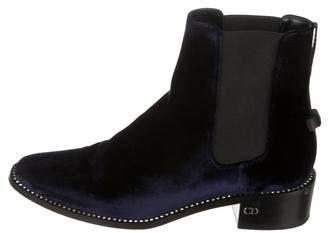 Christian Dior Embellished Velvet Ankle Boots