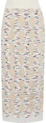 Missoni Marled Open-Knit Midi Skirt