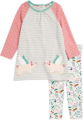 Boden Mini Jersey Dress & Leggings Set