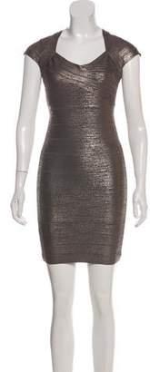Herve Leger Metallic Mini Dress