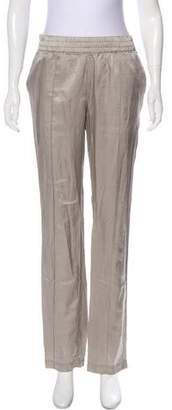 Closed Mid-Rise Silk-Blend Pants w/ Tags