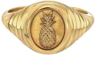 Retrouvaí Pineapple Signet Ring - Yellow Gold