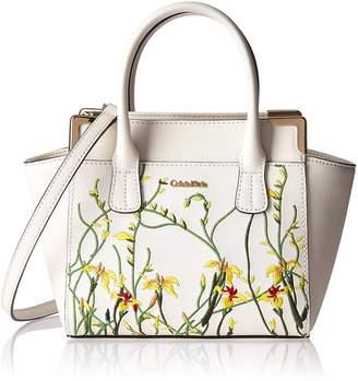 Mujeres Floral Calvin Klein Apliques Saffiano Cuero Apliques Mini z5n1nTwFq