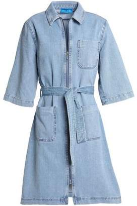 MiH Jeans Rolla Belted Denim Shirt Dress