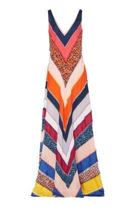 Altuzarra Ellsworth Silk Patchwork Gown