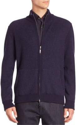 Luciano Barbera Long Sleeve Wool Cardigan