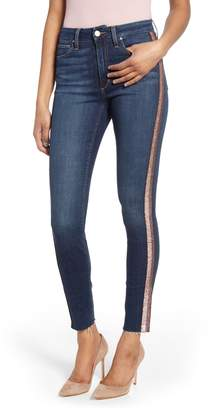 Joe's Jeans Honey Sequin Stripe Curvy High Waist Ankle Skinny Jeans