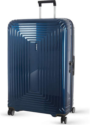 Samsonite Neopulse four-wheel spinner suitcase 75cm, Metallic blue