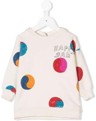 Bobo Choses happy sad print sweatshirt