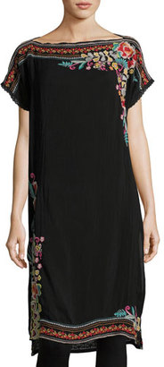 Johnny Was Janice Embroidered Long Tunic, Plus Size $275 thestylecure.com