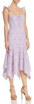 WAYF Novara Bustier Eyelet Dress