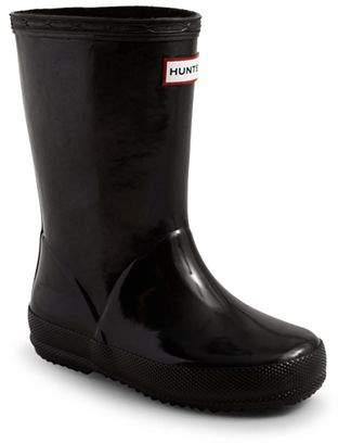 Hunter Unisex First Gloss Rain Boots - Walker, Toddler, Little Kid