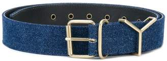 Y/Project Y / Project logo buckled belt