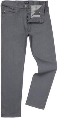 Armani Jeans Men's J21 Regular Fit Grey Jeans