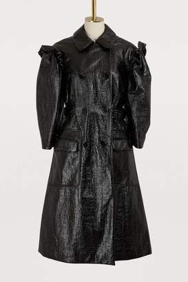 Simone Rocha Puff-sleeved trench coat