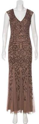 Aidan Mattox Embellished Mesh Gown w/ Tags