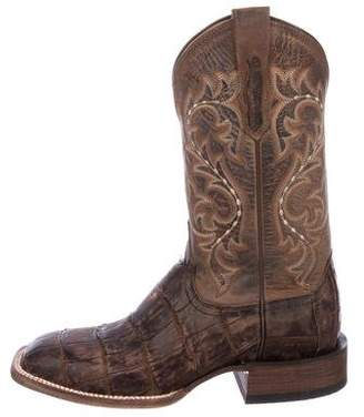 Lucchese Giant Alligator Cowboy Boots