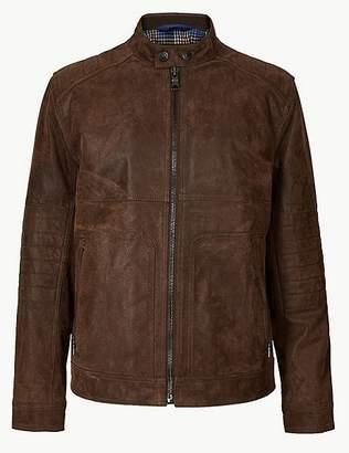 Marks and Spencer Suede Leather Biker Jacket