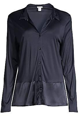 Hanro Women's Grand Central Silk-Blend Sleep Shirt