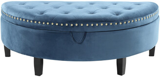 Chic Home Jacqueline Teal Blue Storage Ottoman