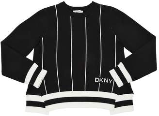 DKNY Open Back Tricot Knit Sweater