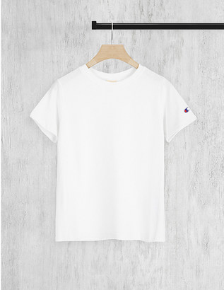 CHAMPION Logo-embroidered cotton-jersey t-shirt $31.50 thestylecure.com