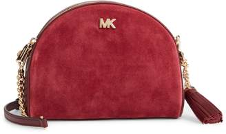 MICHAEL Michael Kors Ginny Half Moon Leather Crossbody Bag
