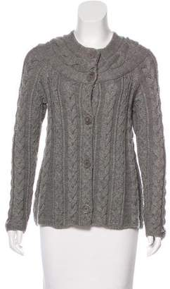 Magaschoni Wool Cable Knit Cardigan
