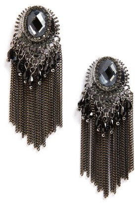Women's Natasha Couture Beaded Fringe Earrings $28 thestylecure.com