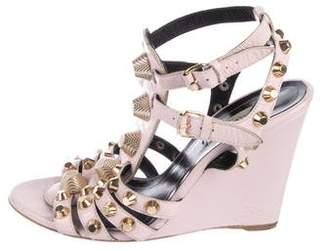 Balenciaga Leather Embellished Sandals