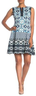 Maggy London Ikat Sleeveless Fit & Flare Dress