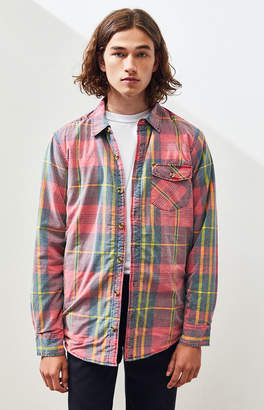LIRA Walnut Sherpa Lined Plaid Flannel Jacket