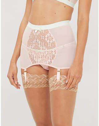 Agent Provocateur Quin stretch-lace suspender skirt