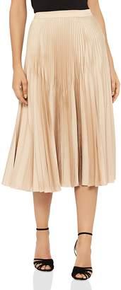 Reiss Isidora Metallic Pleated Skirt