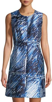 Milly Coco Satin Sheath Dress