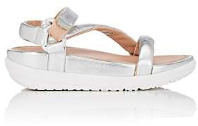 FitFlop LIMITED EDITION Women's Padded Leather Ankle-Strap Sandals-Silver