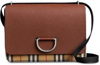 Burberry The Medium Vintage Check and Leather D-ring Bag