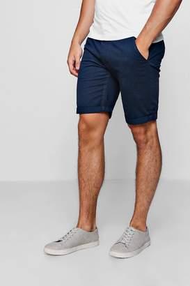 Blue Chino Short With Turn Up Hem