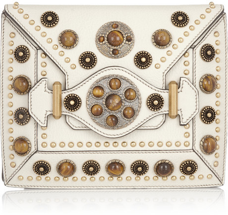 Alexander McQueen Byzantine Book embellished leather clutch