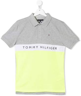 Tommy Hilfiger Junior logo print polo shirt