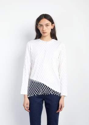 Marques Almeida Marques ' Almeida Jersey Net Long Sleeve Top White
