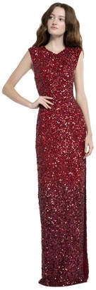 Alice + Olivia Jojo Sequin Fitted Gown