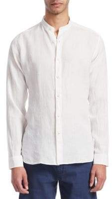 Loro Piana Mandarin Collar Button-Down