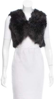 Ralph Lauren Black Label Shearling Crop Vest