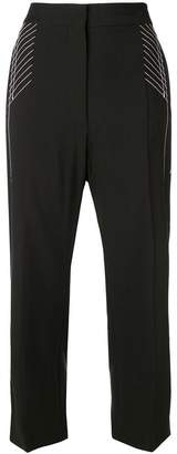 Sportmax Code stitch detail cropped trousers