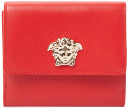 Versace Palazzo Saffiano Leather French Wallet